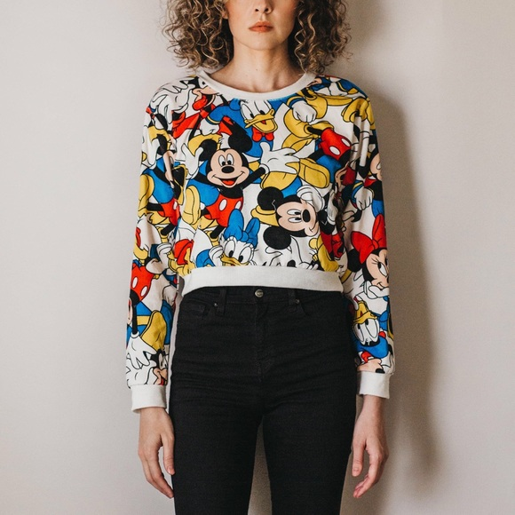 Forever 21 Tops - Disney Character Velour Cropped Sweatshirt